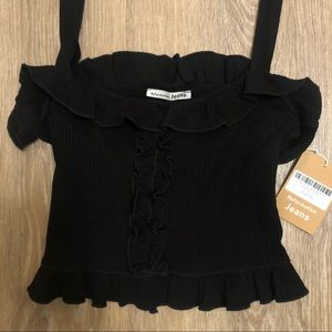 Unworn, Tags attached Reformation Black Top